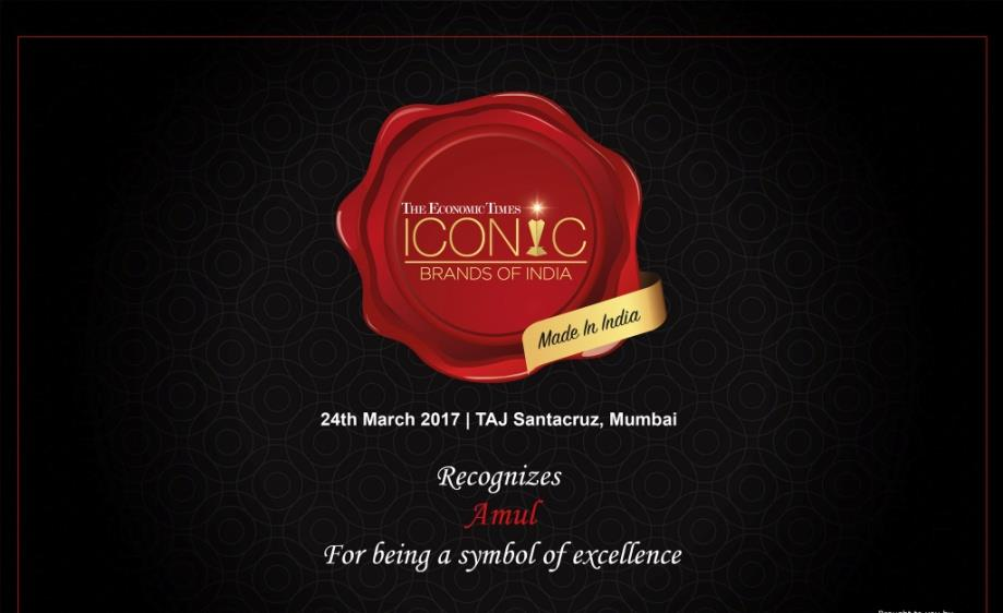 Amul received ET Iconic Brand Award