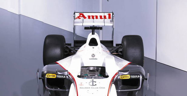 Amul sponsors Sauber F1 Team in India