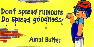 Don't spread rumours, Do Spread goodness