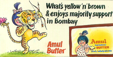 What's yellow `n' brown & enjoy majority support in Bombay
