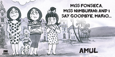 MISS FONSECA, MISS NIMBUPANI AND I  SAY GOODBYE, MARIO.....