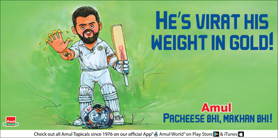 He's Virat his weight in gold!